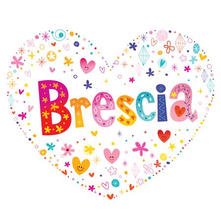 Brescia city in Italy Illusztráció