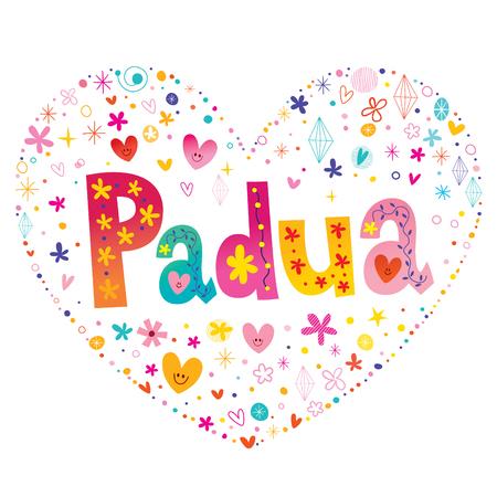 Padua city heart illustration. Illusztráció