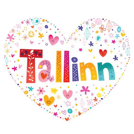 Tallinn hoofdstad van Estland Stock Illustratie