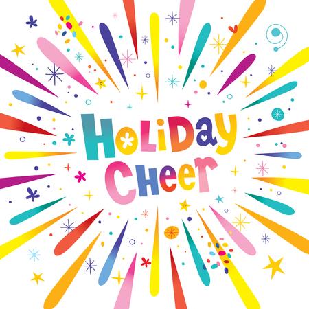 Holiday cheer festive banner vector illustration.