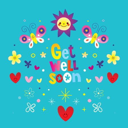 get well soon vector illustration.  イラスト・ベクター素材