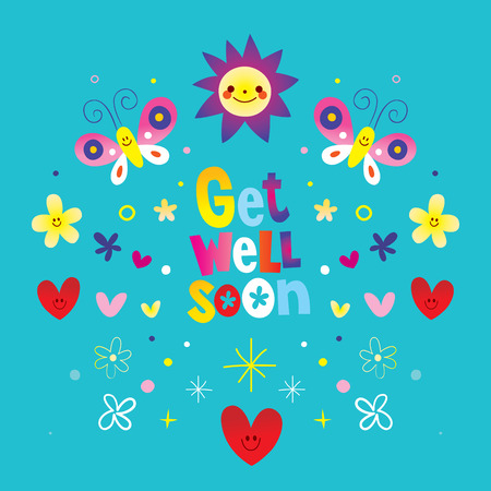 get well soon vector illustration. Иллюстрация