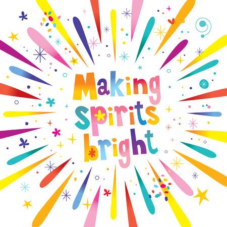 Making spirits bright vector illustration. Çizim