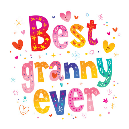 Best granny ever vector