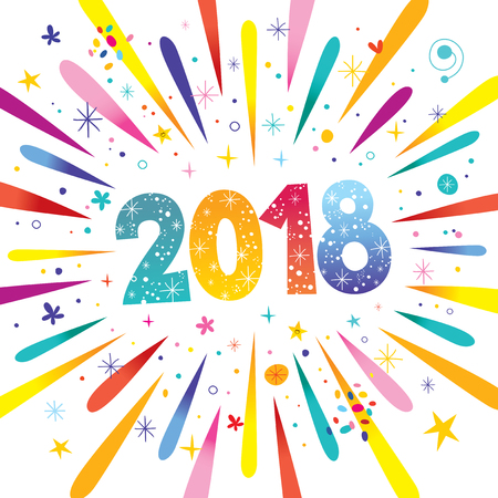 2018 new year vector Ilustrace