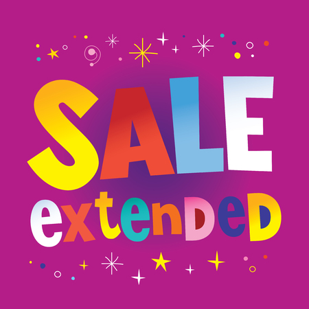 sale extended banner poster