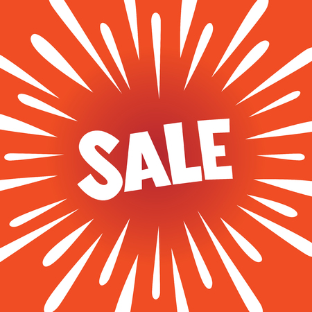 SALE - banner poster with burst explosion