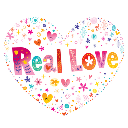 Real love colorful heart pattern design.