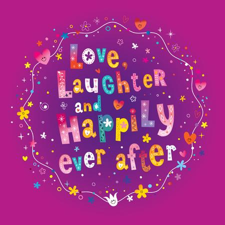 사랑 웃음과 행복하게 해본 후 다채로운 패턴 디자인.