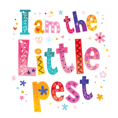 I am the little pest lettering Vector illustration. Иллюстрация