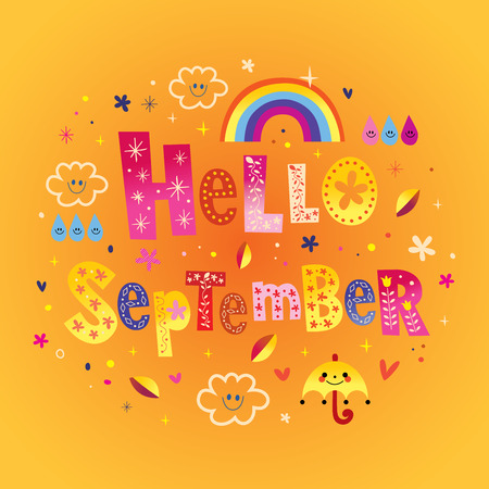 Hello September greeting card