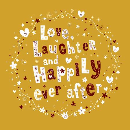 愛の笑いと幸せな後