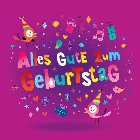 Alles Gute zum Geburtstag Deutsch Tedesco Biglietto di auguri di buon compleanno Archivio Fotografico - 93380637