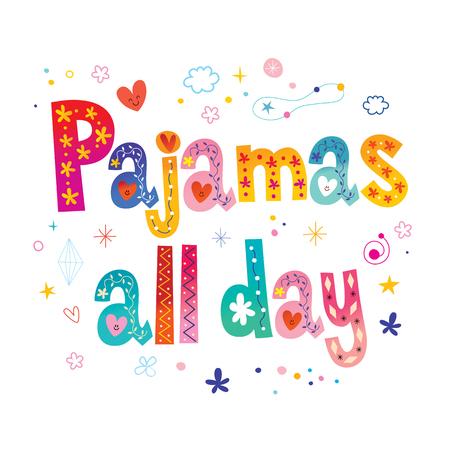 Pyjama's de hele dag door Stock Illustratie