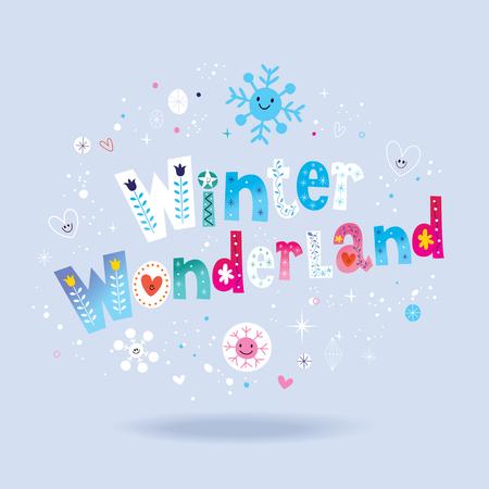 Winter wonderland belettering ontwerp