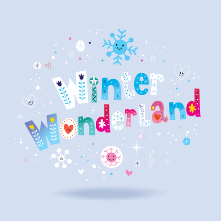 Winter wonderland lettering design