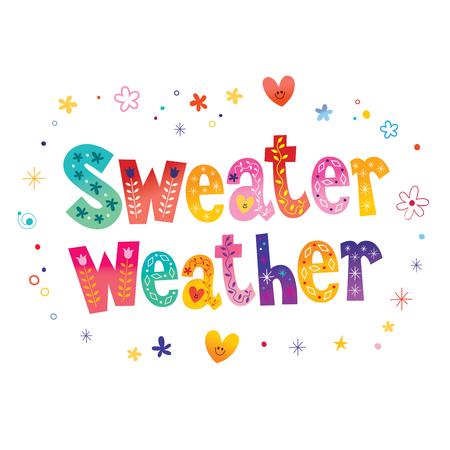 Sweater weer kleurrijk belettering ontwerp