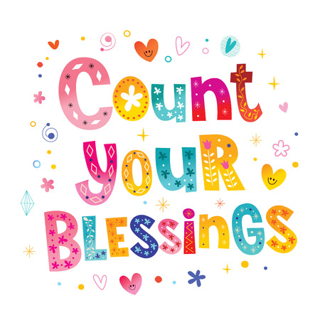 Count your blessings Vectores