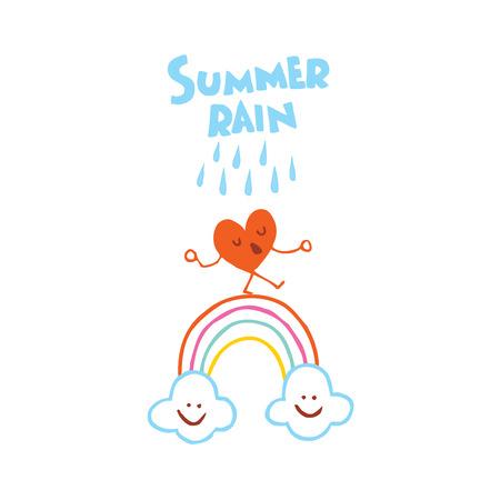 summer rain Ilustrace