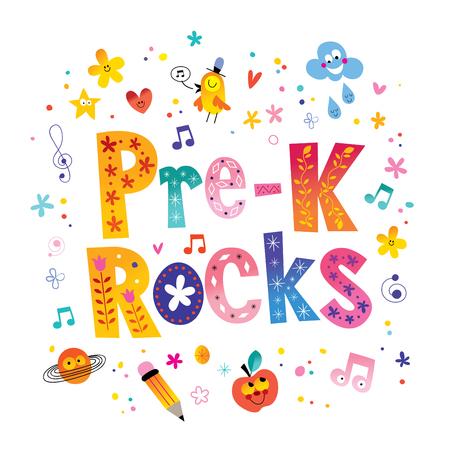 Pre K rocks - unique lettering kids design