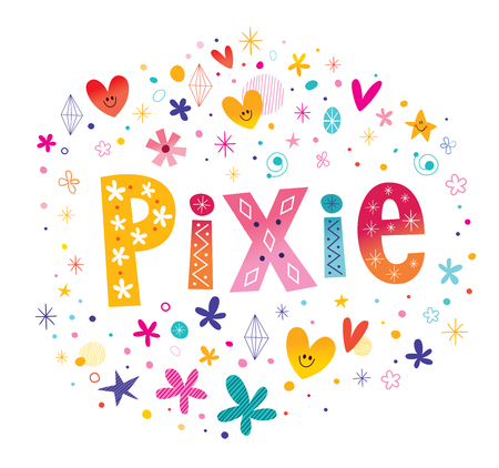Pixie girls name Stock fotó - 93392248