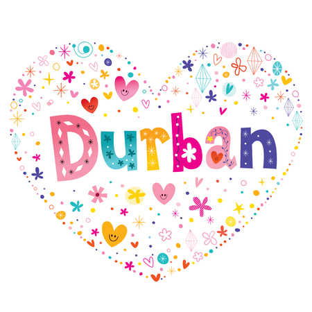 De stad van Durban in Zuid-Afrika