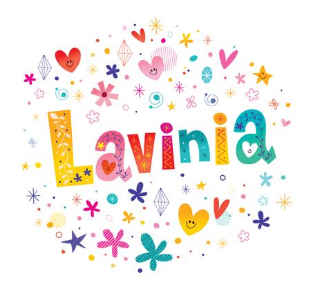 ラヴィニアの女の子の名前 写真素材 - 93392255