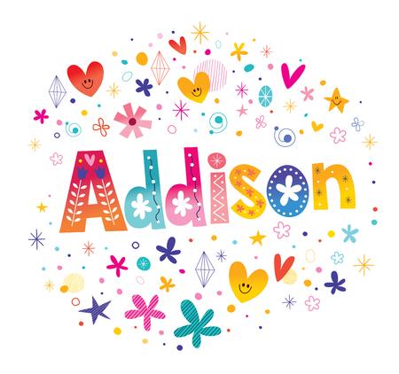 アジソンの女の子の名前
