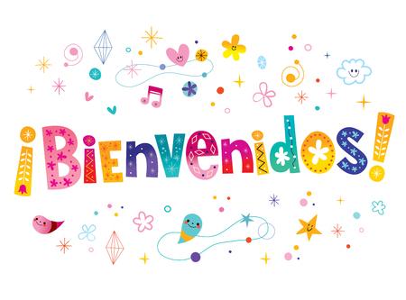 bienvenidos - witamy w języku hiszpańskim Ilustracje wektorowe