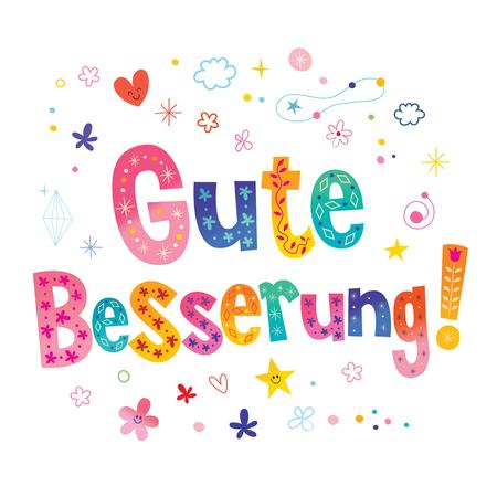 Gute Besserung - Get well soon in German