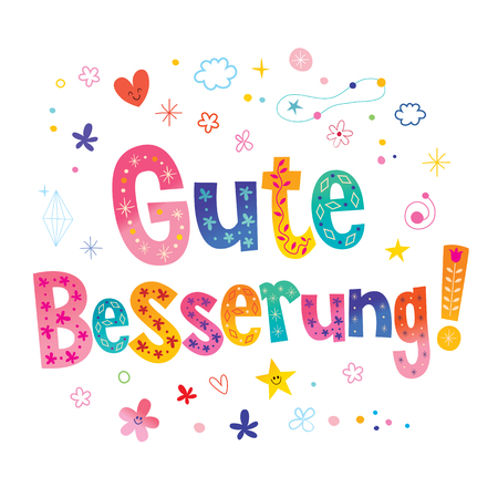 Gute Besserung - Guarisci presto in tedesco Vettoriali