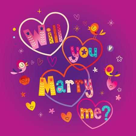 너 나 타이 포 그래피 글자 텍스트 결혼 디자인 결혼 해 줄래?