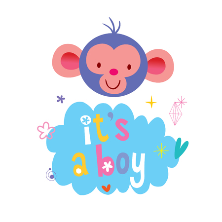 its a boy Stock Vector - 94074487