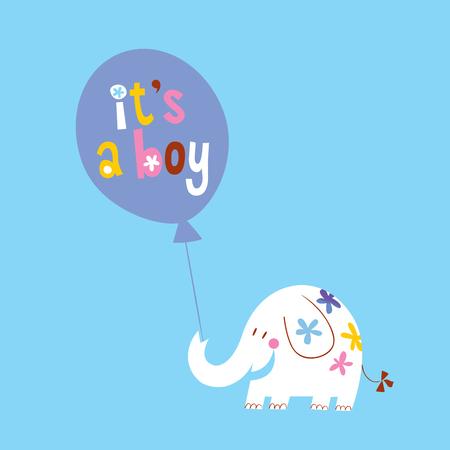 its a boy card with cute elephant