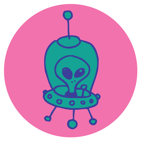 alien cartoon character ufo star ship