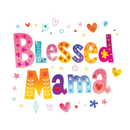 축복받은 엄마 - 티셔츠 디자인 일러스트