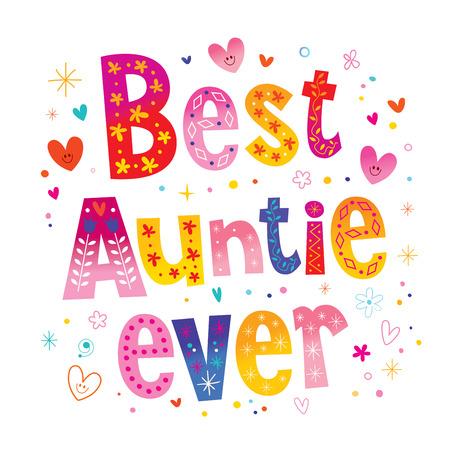 best auntie ever illustration.