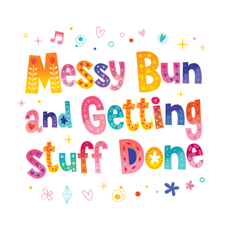 Messy bun and getting stuff done Zdjęcie Seryjne - 94176549