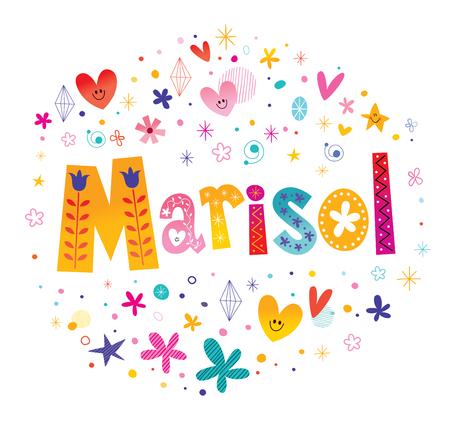 Marisol-meisjes noemen decoratief belettering typeontwerp.