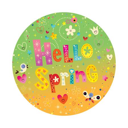 Hello spring illustration Illusztráció