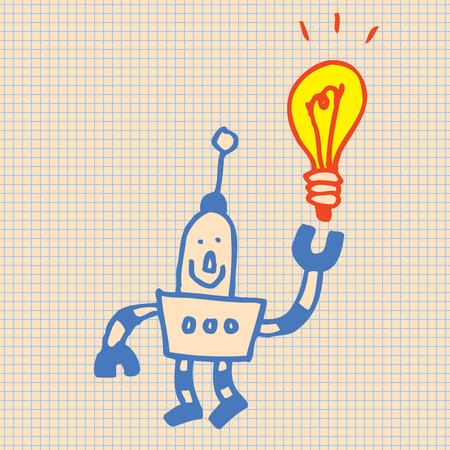 Robot idee illustratie Stock Illustratie