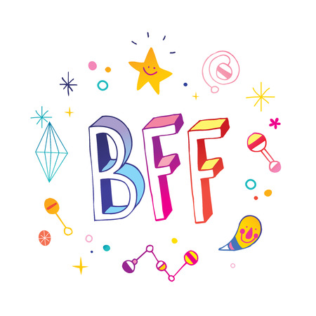 BFF Best Friends Forever illustration. Banco de Imagens - 94220448