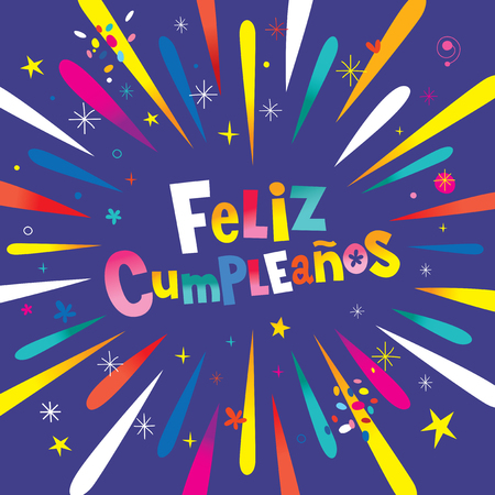 Feliz Cumpleanos Happy Birthday in Spanish card