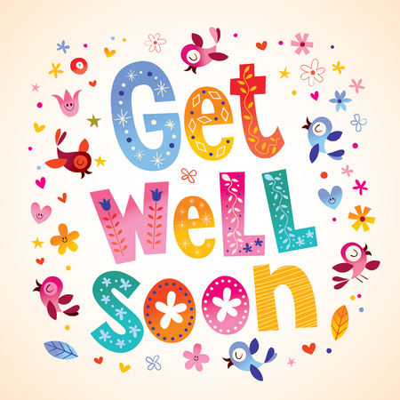 Get well soon card Stock fotó - 94190034