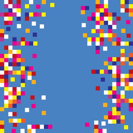 Pixel squares background design elements