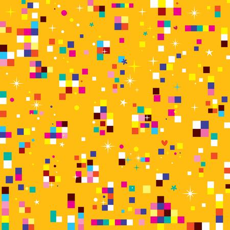 fun pixel squares seamless pattern
