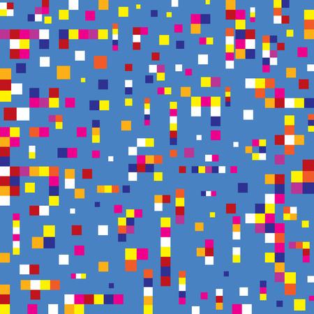 ピクセル二乗背景シームレスパターン