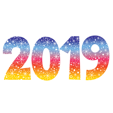 2019 New Year two thousand nineteen decorative number
