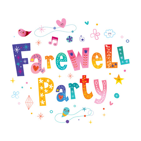 Farewell party decorative lettering.
