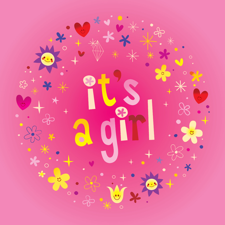 its a girl card.